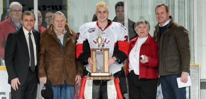 Kodiaks Goaltender Joey May Awarded Stewy Stewart Memorial Trophy