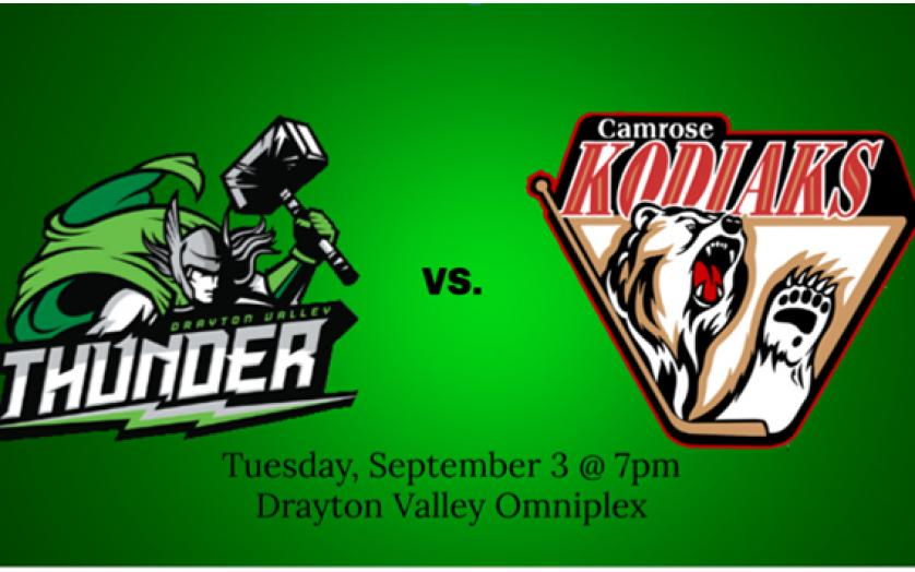image about Thunder Schedule Printable called Drayton Valley Thunder Dwelling