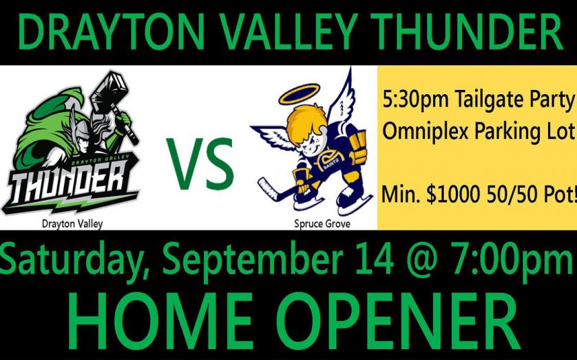 graphic relating to Thunder Schedule Printable named Drayton Valley Thunder Residence