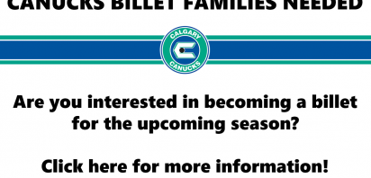 Canucks Looking for Billets for the 2018-2019 Season