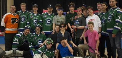 Canucks in the Community – Canucks 'Stick It To Cancer' with the St. Helena Hawks