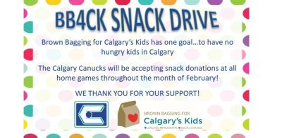 Canucks Partner With Brown Bagging for Calgary's Kids