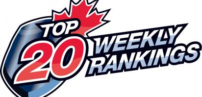 CJHL Top 20 Weekly Rankings