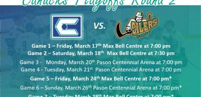 PLAYOFF PREVIEW: Canucks Set to Face Okotoks Oilers in Second Round of Playoffs