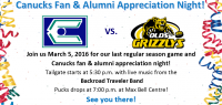 Canucks Fan & Alumni Appreciation Night!