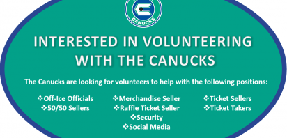 Become a Volunteer for the Canucks this Season!